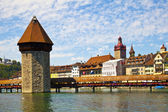 Chapel Bridge in Lucerne — Stock Photo