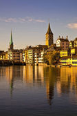 Morning light in Limmat River, Zurich — Stock Photo
