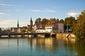 Limmat River, Zurich — Stock Photo