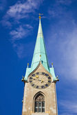 Fraumunster Abbey in Zurich, Switzerland — Stock Photo