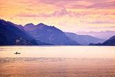 Kayaking in the lake — Stock Photo