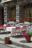 Romantisches Restaurantterrasse — Stockfoto