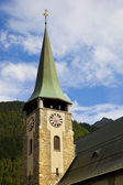 The Tower of Zermatt Churchi, Switzerland — Stock Photo
