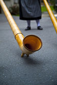 Swiss Alphorn Detail — Stock Photo