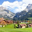 Grindelwald Village Panorama — Stock Photo #7177689