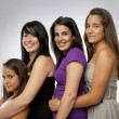 Group of Mixed Ages Girls — Stock Photo #7241263