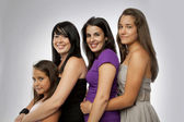 Group of Mixed Ages Girls — Stock Photo