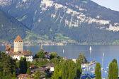 Spiez Village in Lake Thun — Stock Photo