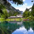 Stock Photo: Blausee Lake