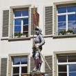 Banneret Fountain, Knight with City's Bear Flag — Stock Photo #7527211