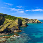 Cliff at Cornish coast near Port Issac, Cornwall, England — Stock Photo #6844480