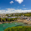 Harbour of Port Isaac with blue skies, Cornwall, England — Stock Photo #6915900