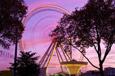 Ferris wheel at county fair, Karlsruhe, Germany — Stock Photo