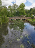 Bibury with River Coln, Cotswolds, Gloucestershire, UK — Stock fotografie