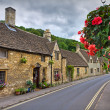 Cottages in Castle Combe, Cotswolds, UK - Stock Photo