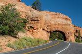 Winding Road at Red Canyon (close to Bryce Canyon National Park), Utah, USA — Stock Photo