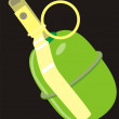 Stock Vector: Manual grenade