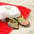 Stock Photo: Beach items