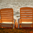 Beach chairs - Stock Photo
