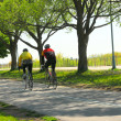 Bicycling in a park - Stock Photo