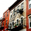 Boston houses — Stock Photo