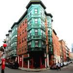 Square in old Boston — Stock Photo