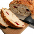 Bread and knife — Stock Photo