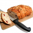 Bread knife board - Stock Photo