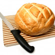 Bread and knife — Stock Photo #6980249