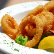 Fried calamari - Stock Photo