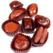 Chocolates on white 1 - Stock Photo