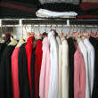Stock Photo: Closet with clothes