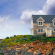House on ocean shore — Stock Photo #6980368