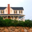 House on ocean shore — Stock Photo