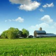 Farmhouse and barn - Stock Photo