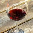 Glass of red wine — Stock fotografie