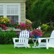 Stock Photo: Two lawn chairs