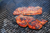 关于烧烤牛排 — 图库照片