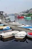 Boats in harbor — Stock Photo