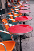 Sidewalk cafe — Stock Photo