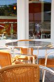 Kawiarnia patio — Zdjęcie stockowe