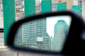 Auto zrcadlo — Stock fotografie