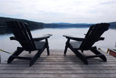 Lake chairs — Stock Photo