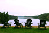 Lake chairs — Stock Photo
