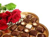 Valentine cholocate vak — Stockfoto