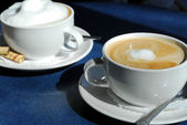 Cappuccino and Latte — Stock Photo