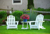 Two lawn chairs — Stock Photo