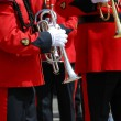Marching band trumpet — Stock Photo