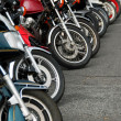 Row of motobikes — Stock Photo