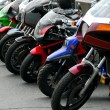 Row of motocycles — Stockfoto